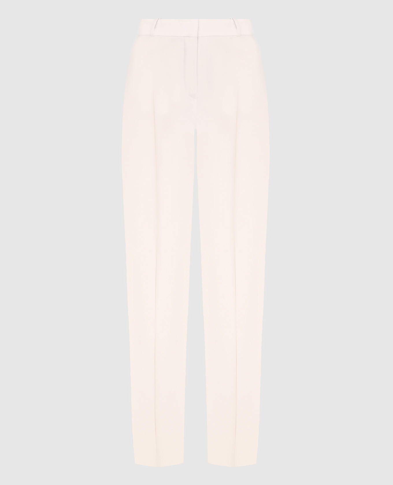 Розовые брюки из шелка и шерсти