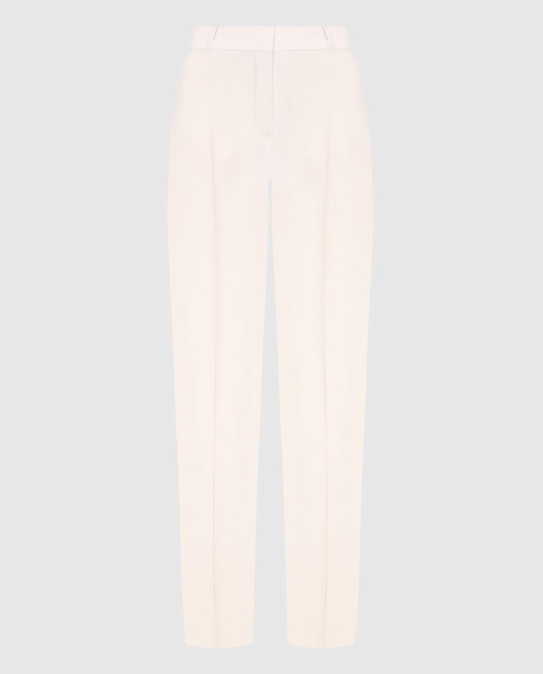 Loro Piana Розовые брюки из шелка и шерсти F1FAI5226