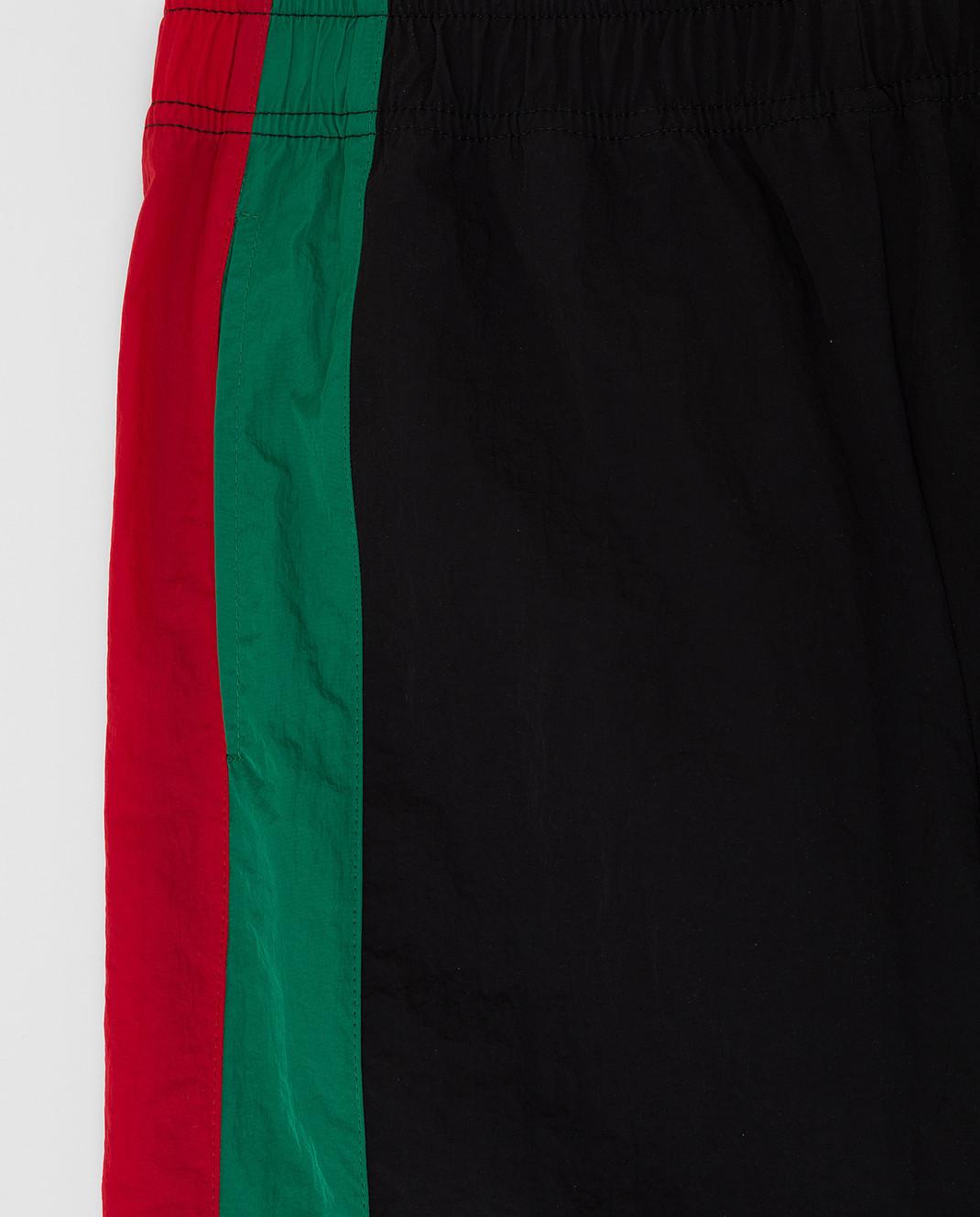 Gucci Детские черные спортивные брюки 600167XWAGV изображение 3