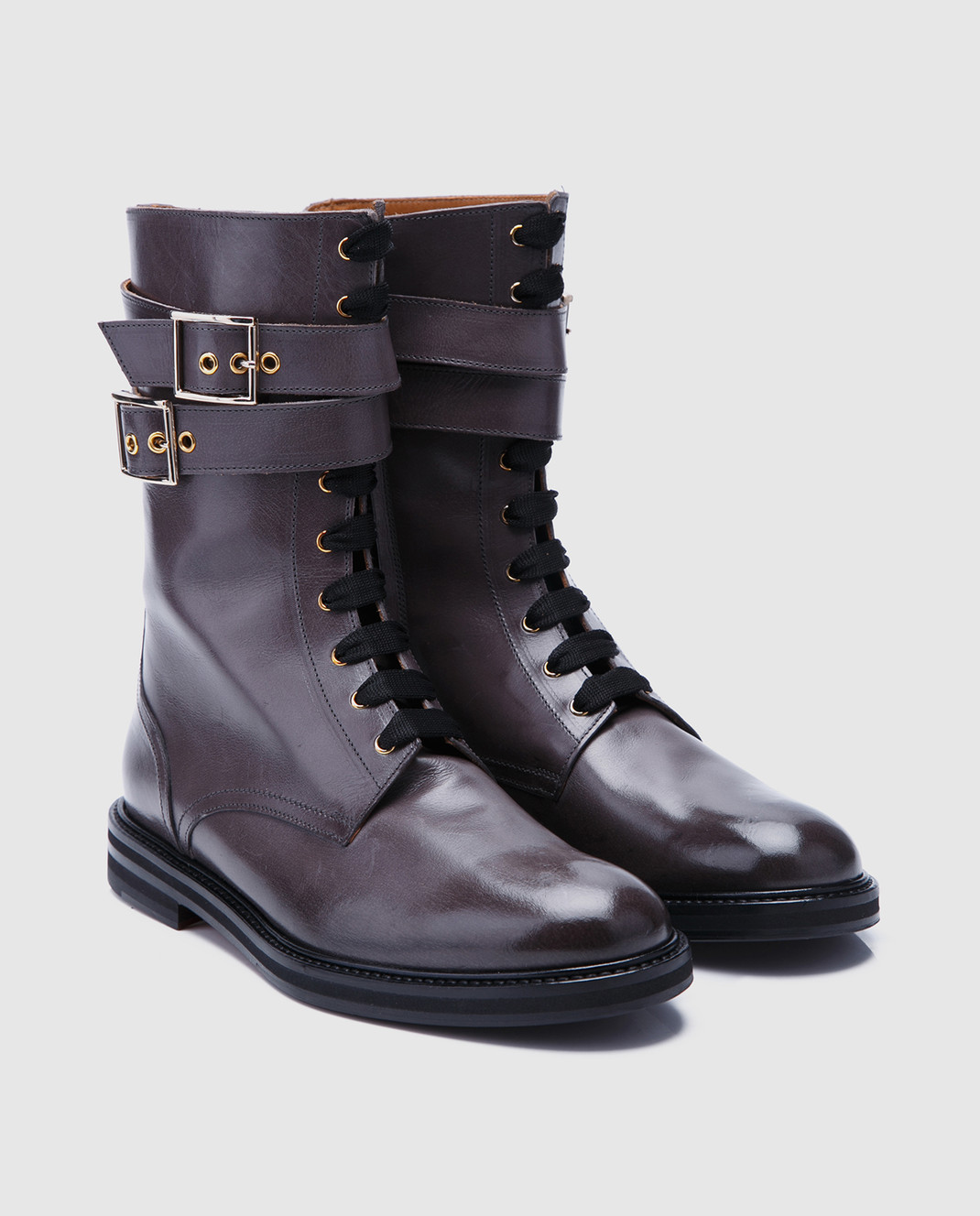 Doucal's Коричневые кожаные ботинки DD8260SOFIUF063 изображение 2