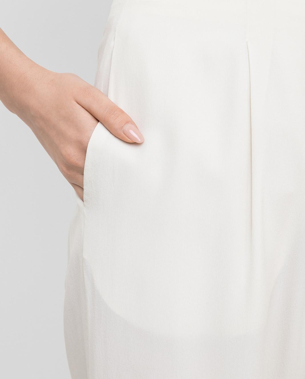 Marni Светло-бежевые брюки из шелка PAMAP01A00TSA29 изображение 5