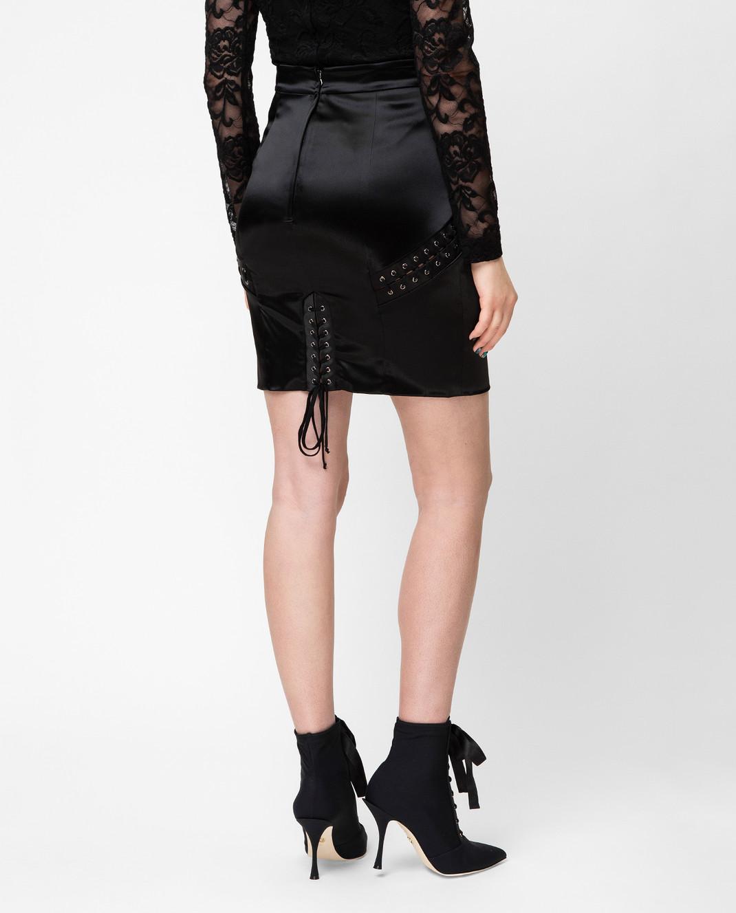 Dolce&Gabbana Черная юбка F4BHKTFURAD изображение 4