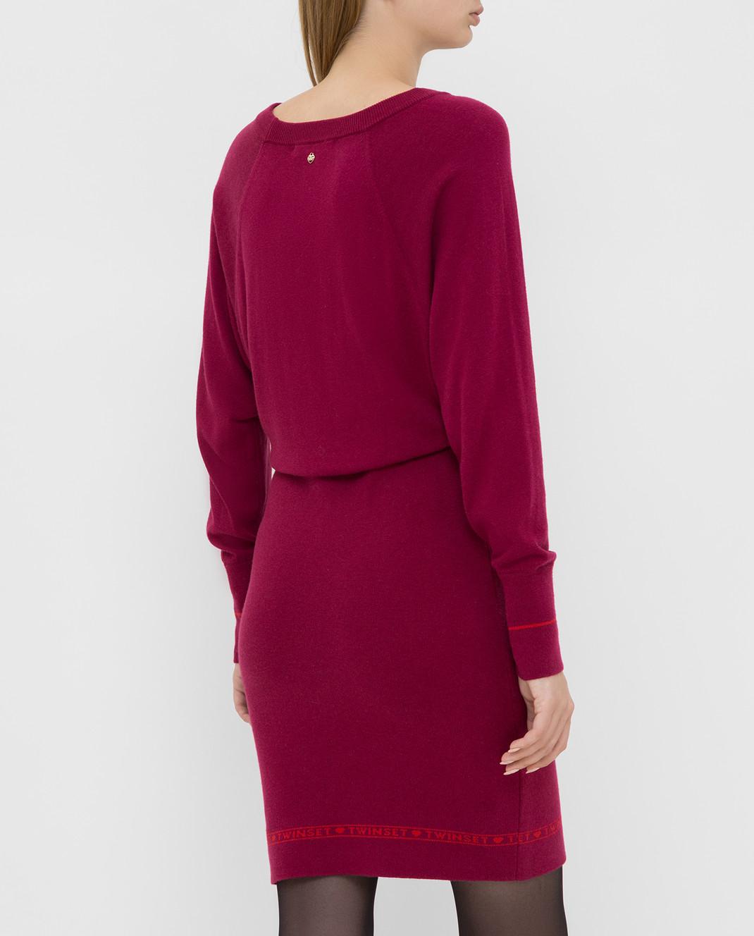 Twin Set Малиновое платье 192TP3154 изображение 4