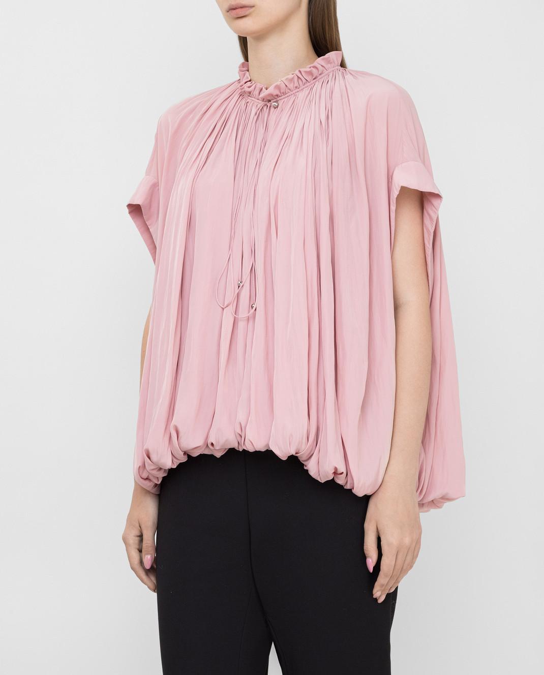 Lanvin Розовая блуза изображение 3