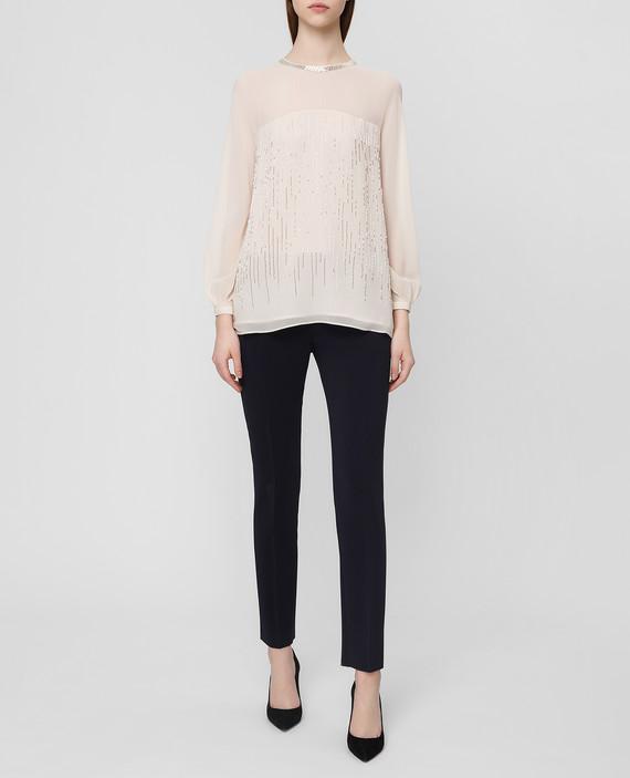 Пудровая блуза из шелка hover