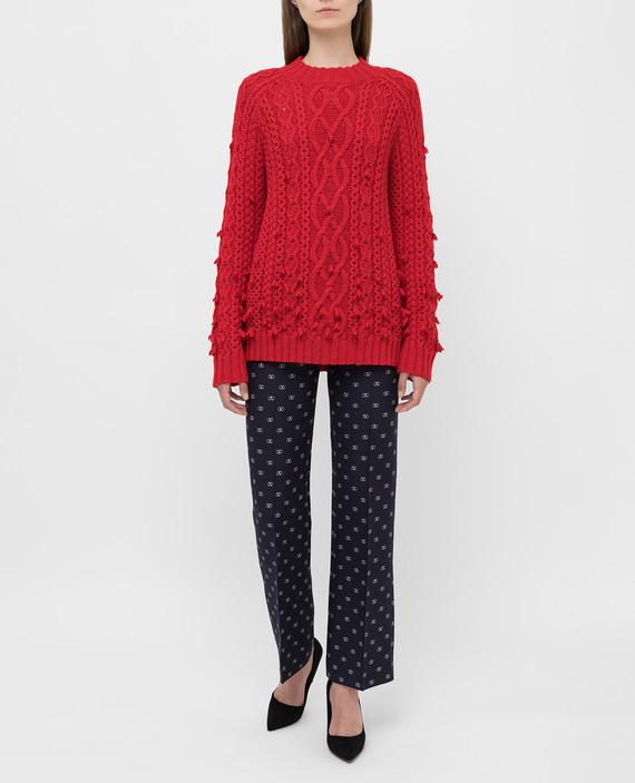 Красный свитер из шерсти hover