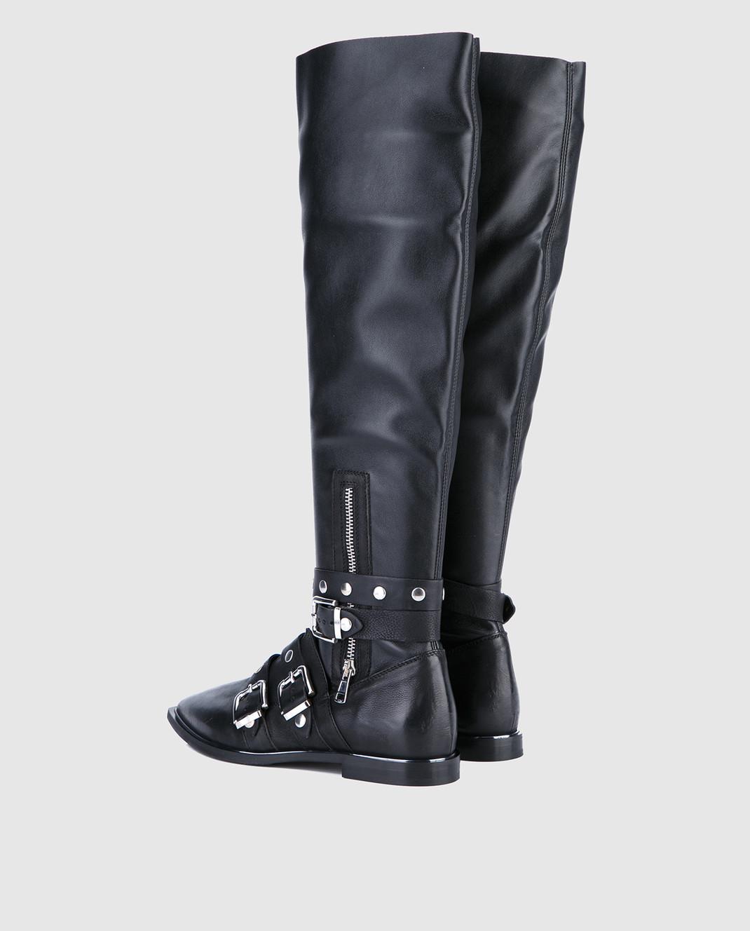 Fru it Черные кожаные сапоги 4865 изображение 3