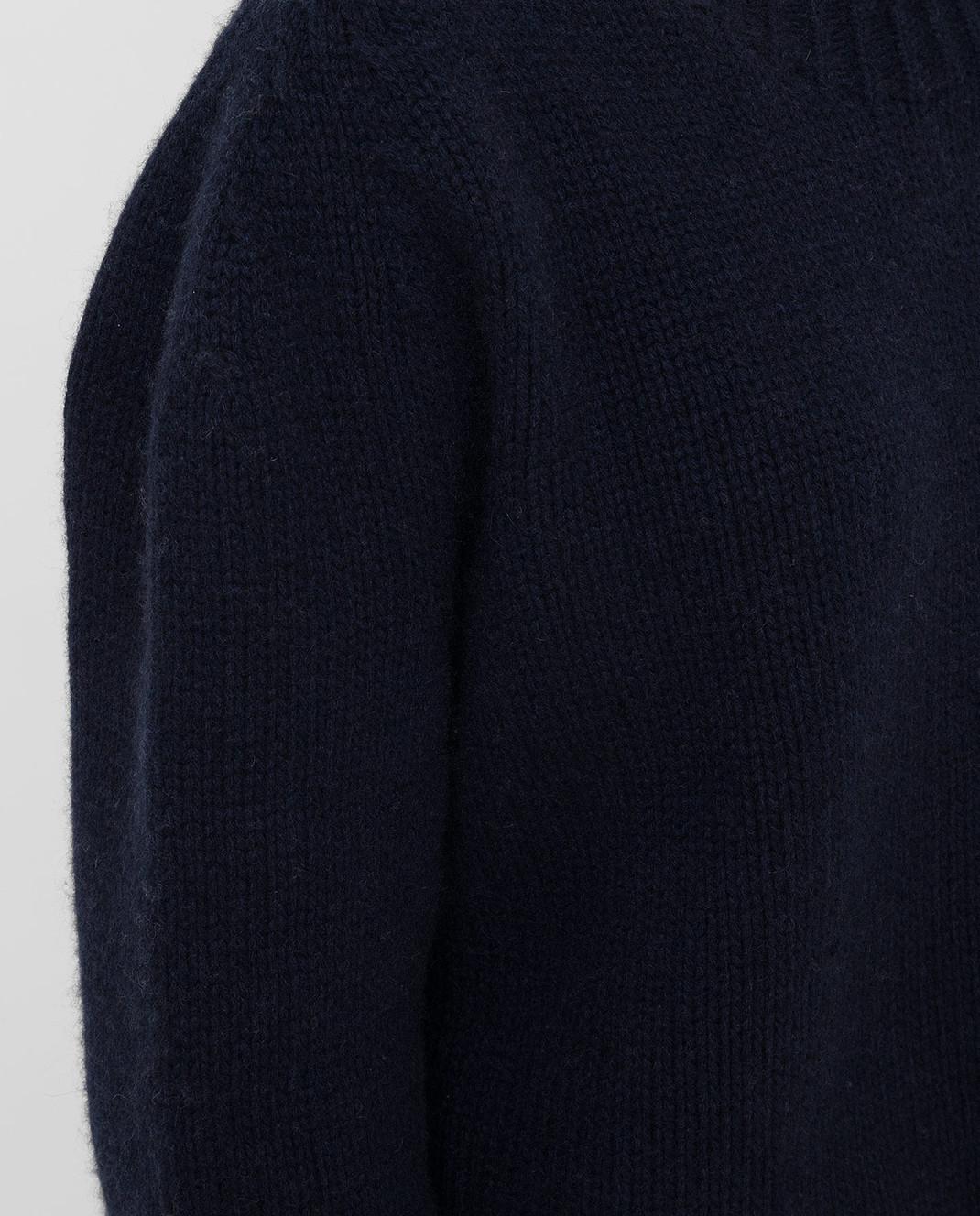 Lanvin Темно-синий свитер из кашемира изображение 5