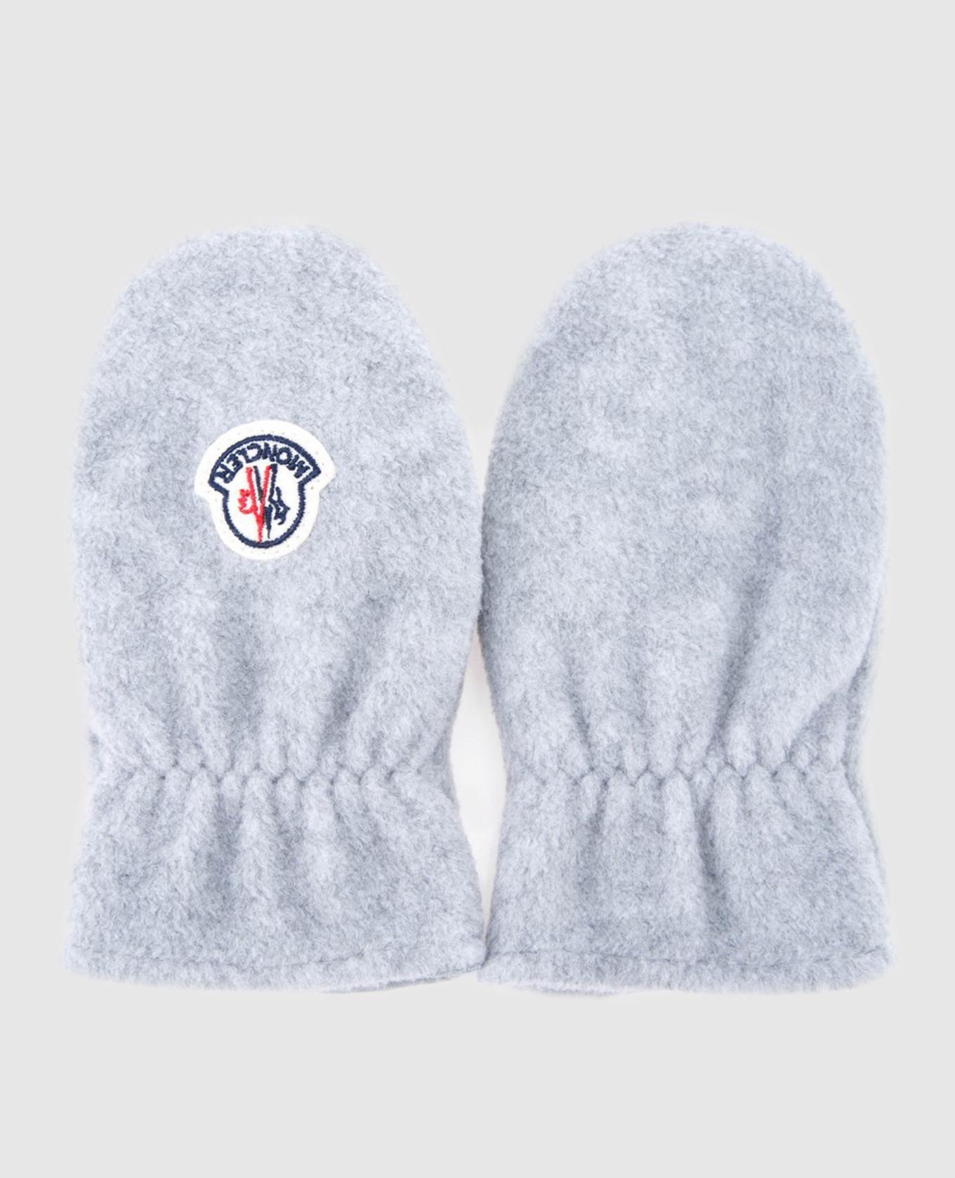 Детские серые рукавицы