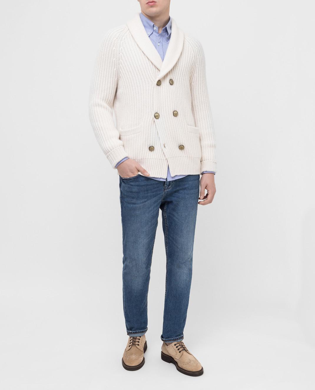Brunello Cucinelli Голубая рубашка MTS406676 изображение 2