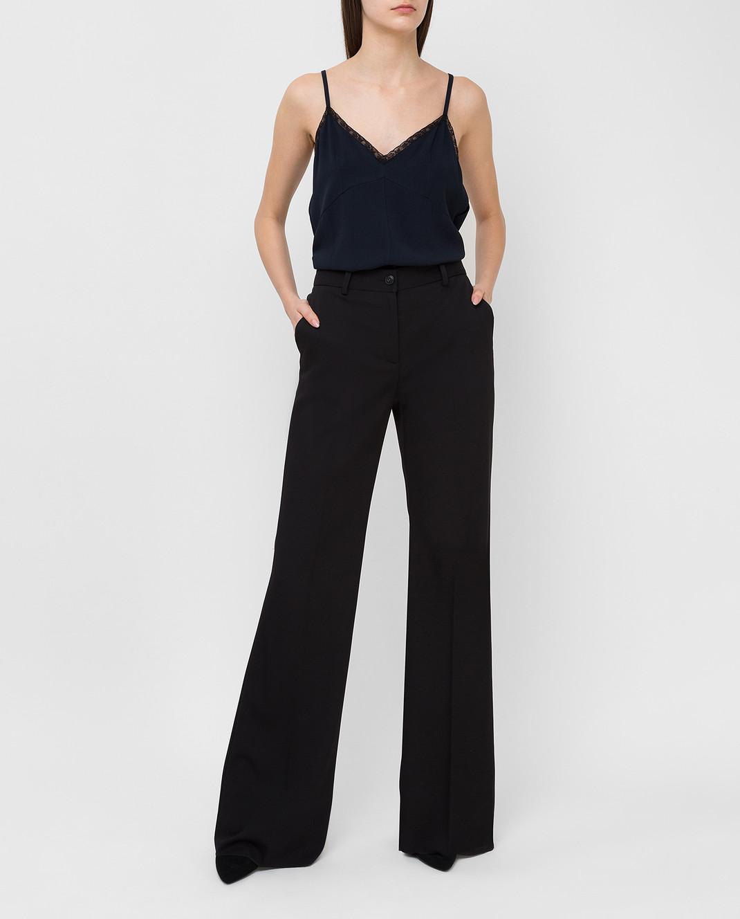 Roberto Cavalli Черные брюки из шерсти DWT211 изображение 2