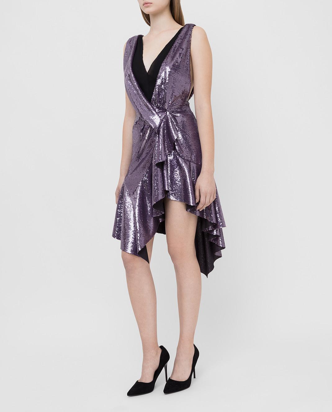 Philosophy di Lorenzo Serafini Фиолетовое платье в пайетках изображение 3