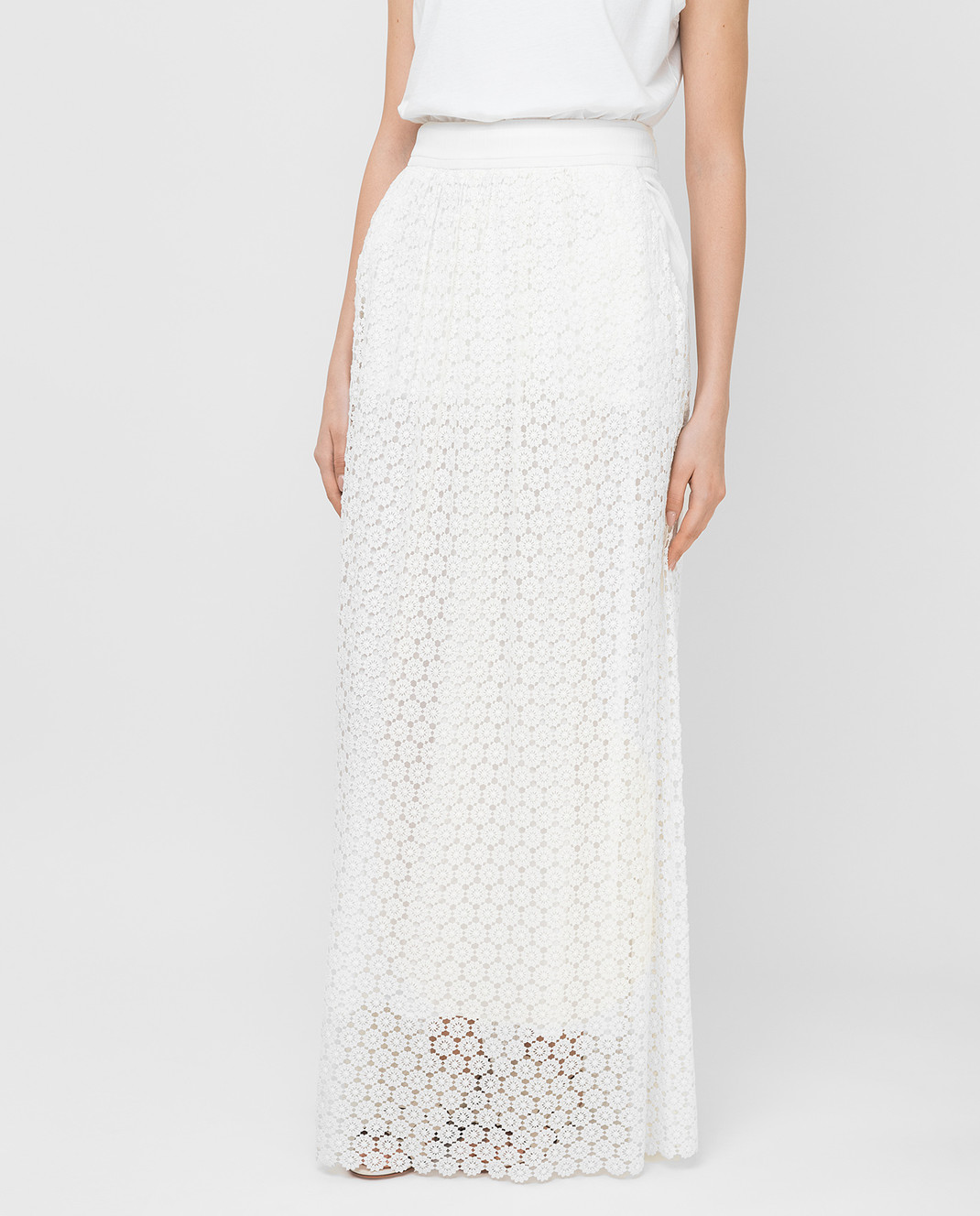 Veronique Branquinho Белая юбка VPG101AVG151A изображение 3