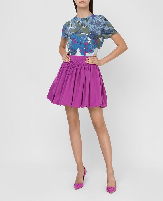 Сиреневая юбка hover