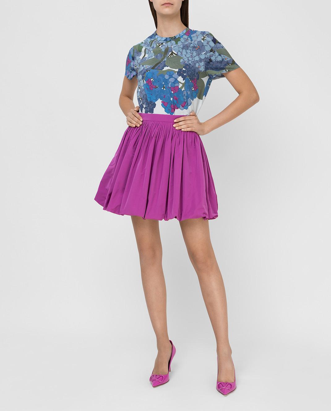 Valentino Сиреневая юбка изображение 2