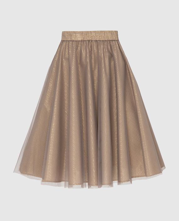 Золотистая юбка с люрексом