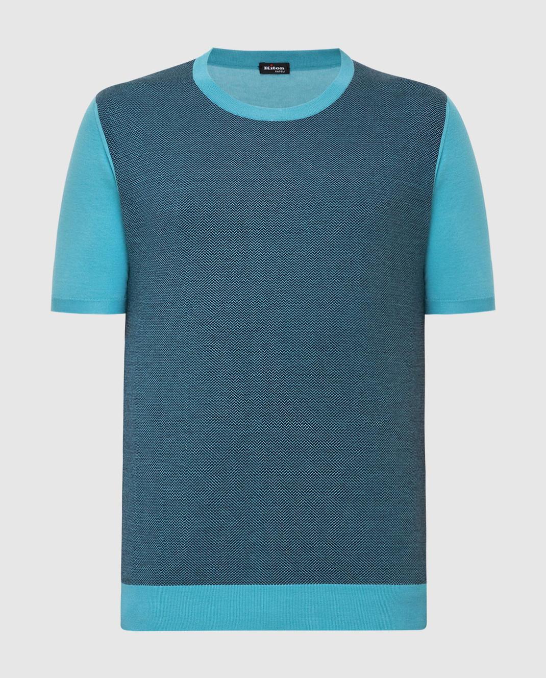 Kiton Голубая футболка UK1044E19