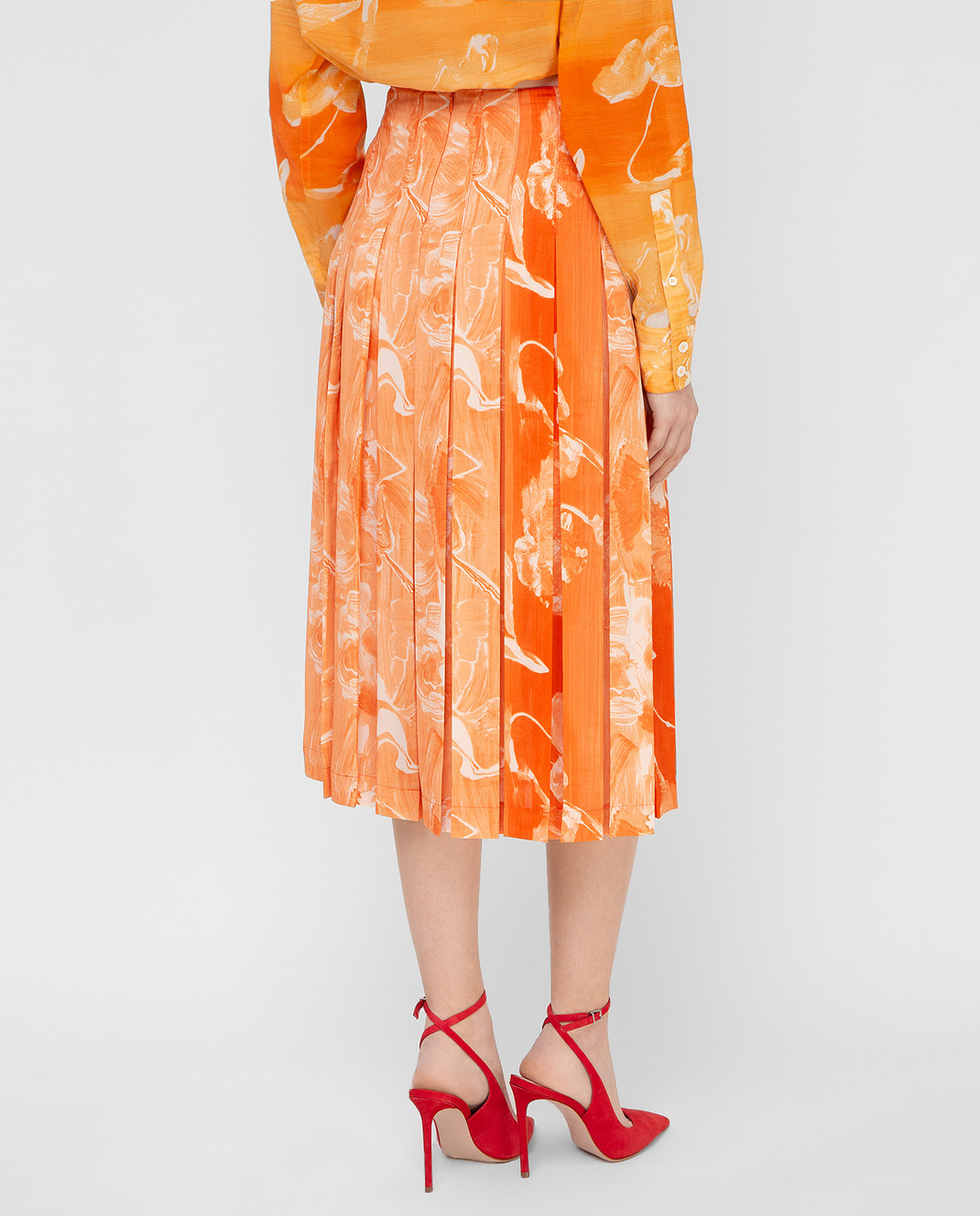 Victoria Beckham Оранжевая юбка SKMID3313 изображение 4