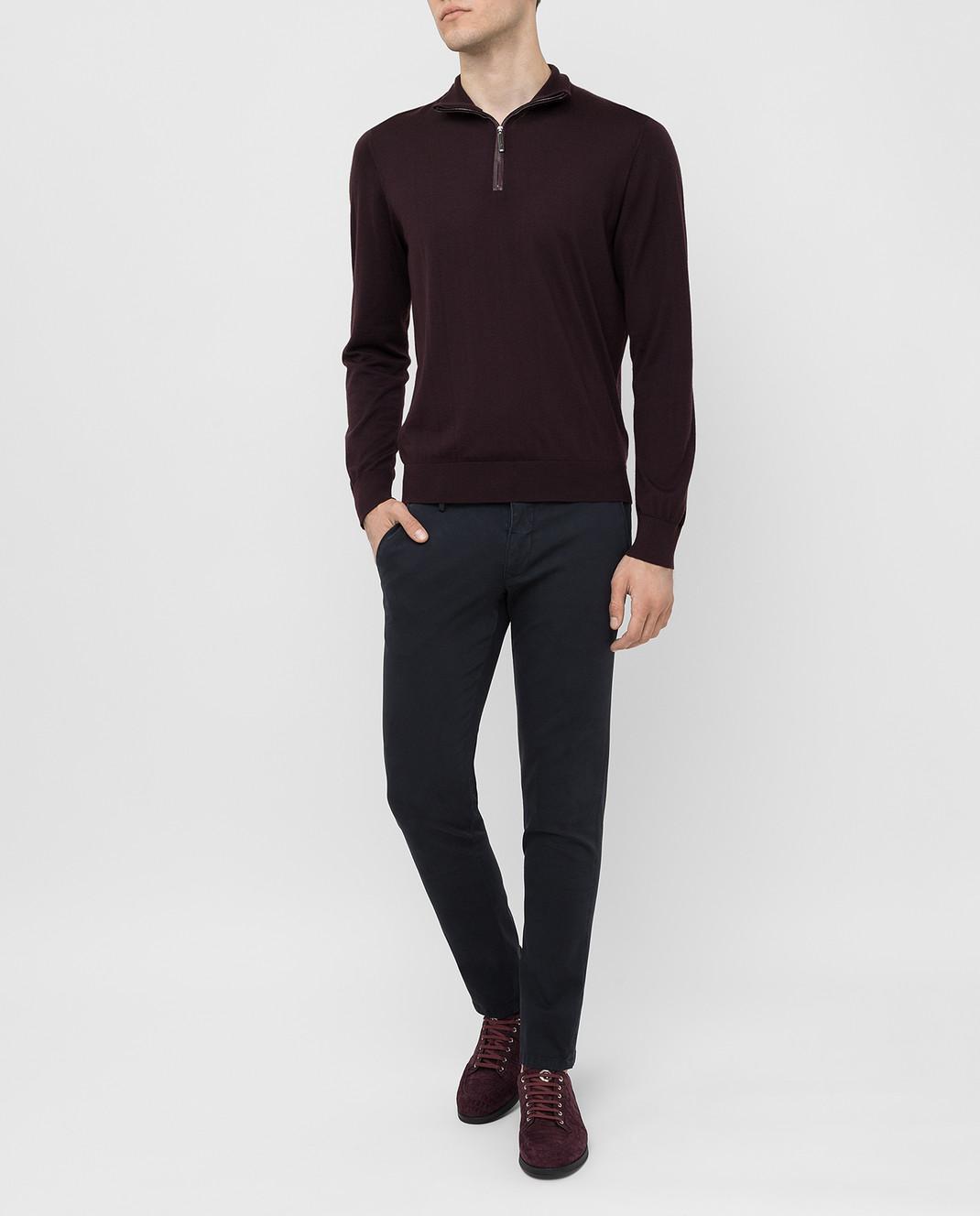 Fradi Темно-синие брюки изображение 2
