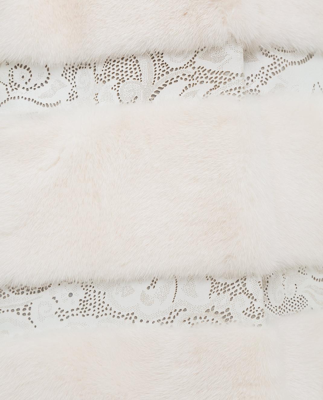 Giuliana Teso Светло-бежевая шуба из меха норки 34FS652 изображение 5