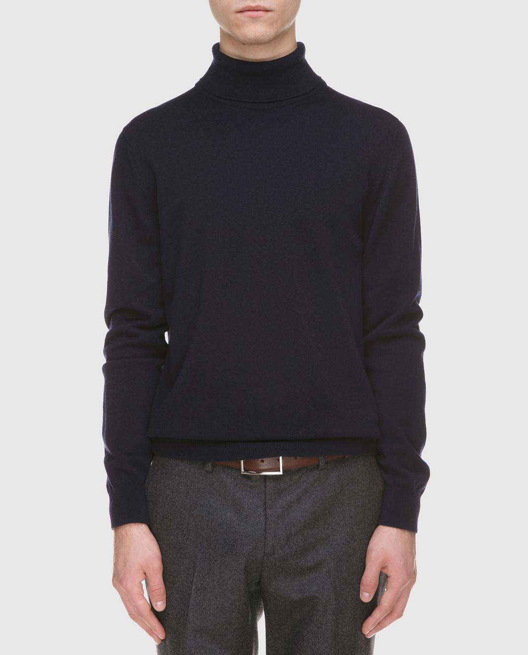 Johnstons Темно-синий свитер из кашемира изображение 3
