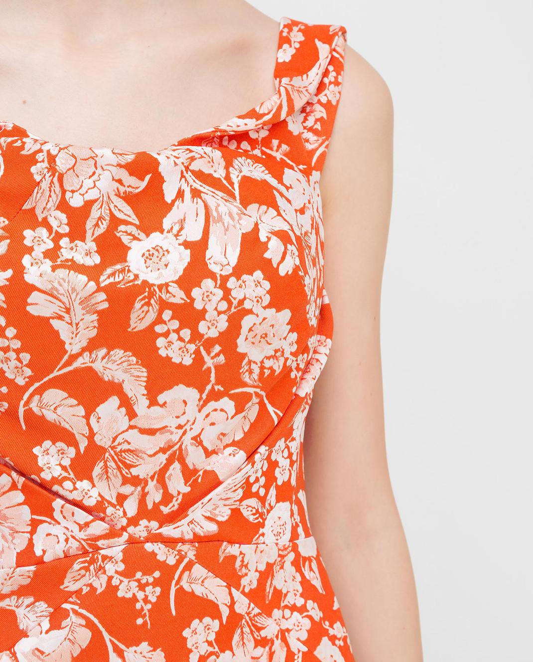 Zac Posen Оранжевое платье 23547753 изображение 5