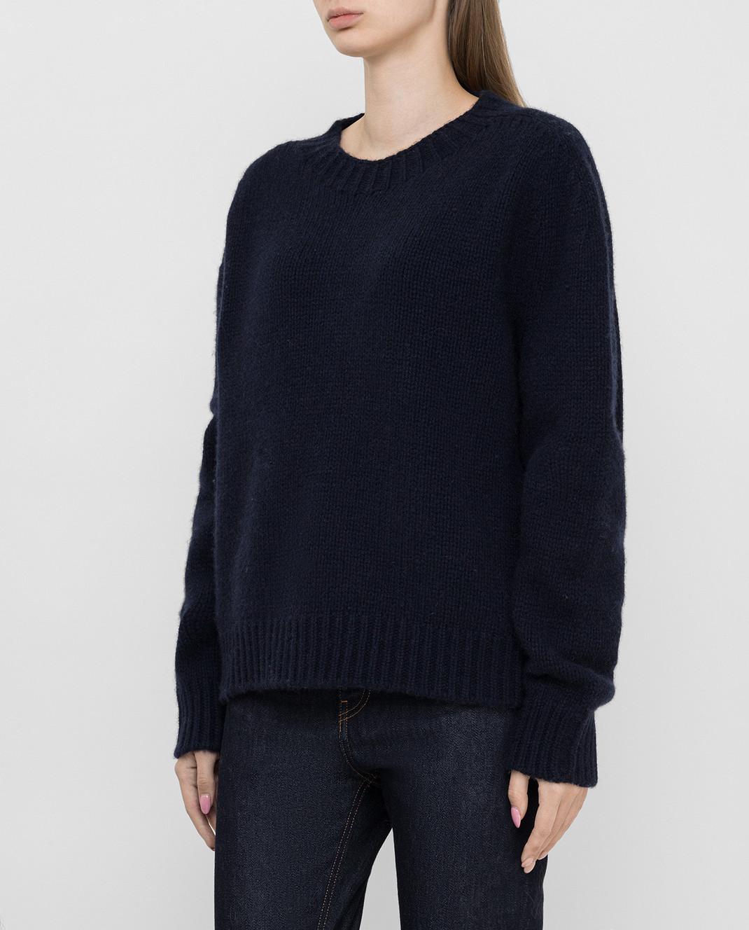 Lanvin Темно-синий свитер из кашемира изображение 3