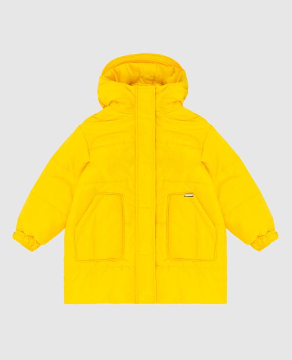 Детская желтая куртка