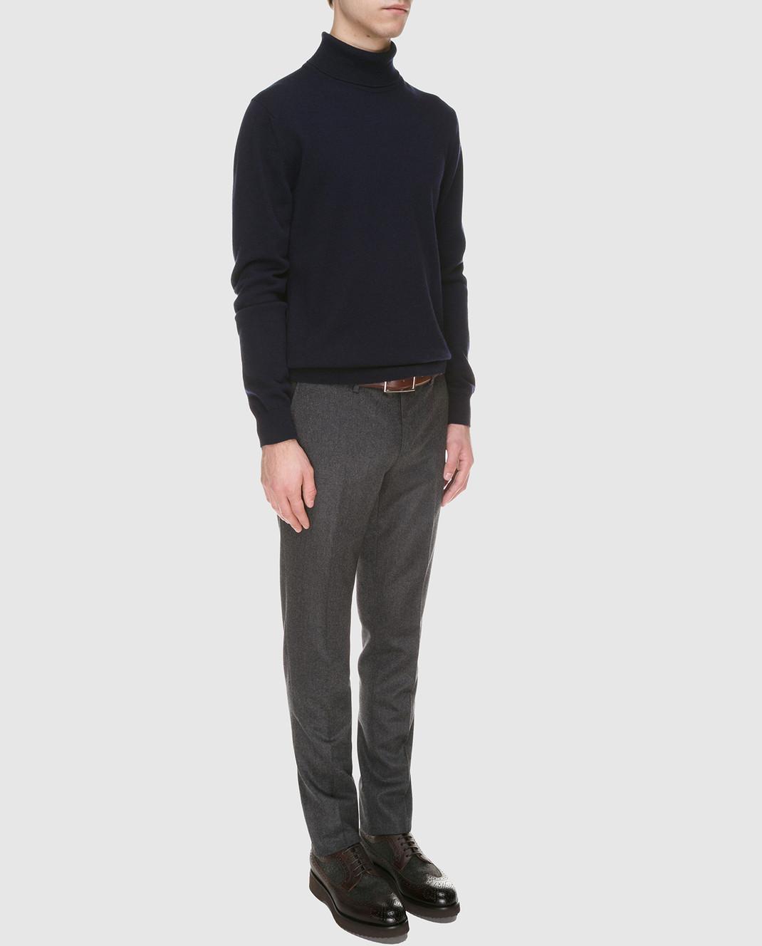 Johnstons Темно-синий свитер из кашемира изображение 2