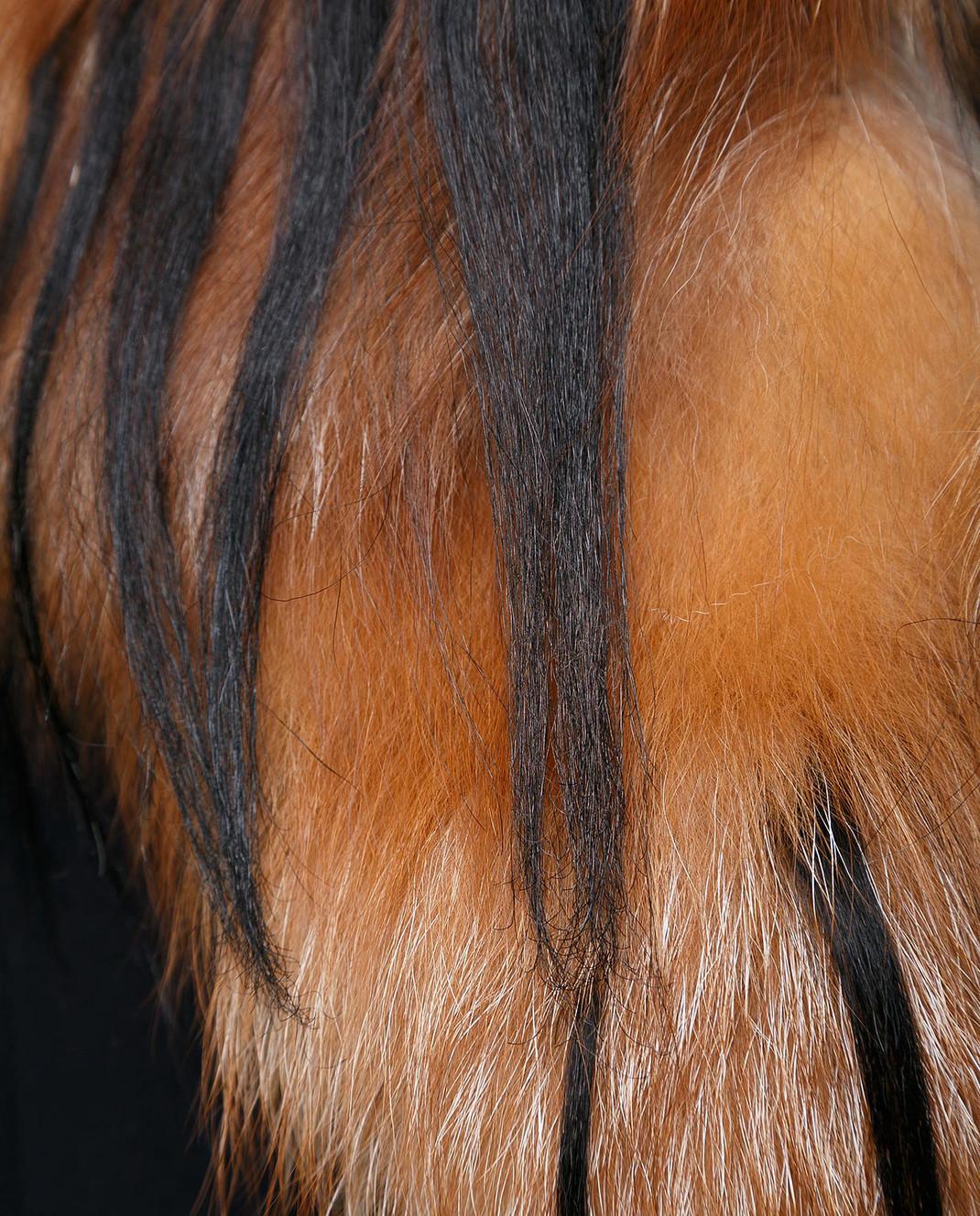 Heresis Пальто из шерсти со съемным воротником из меха лисы M3795FOX изображение 5