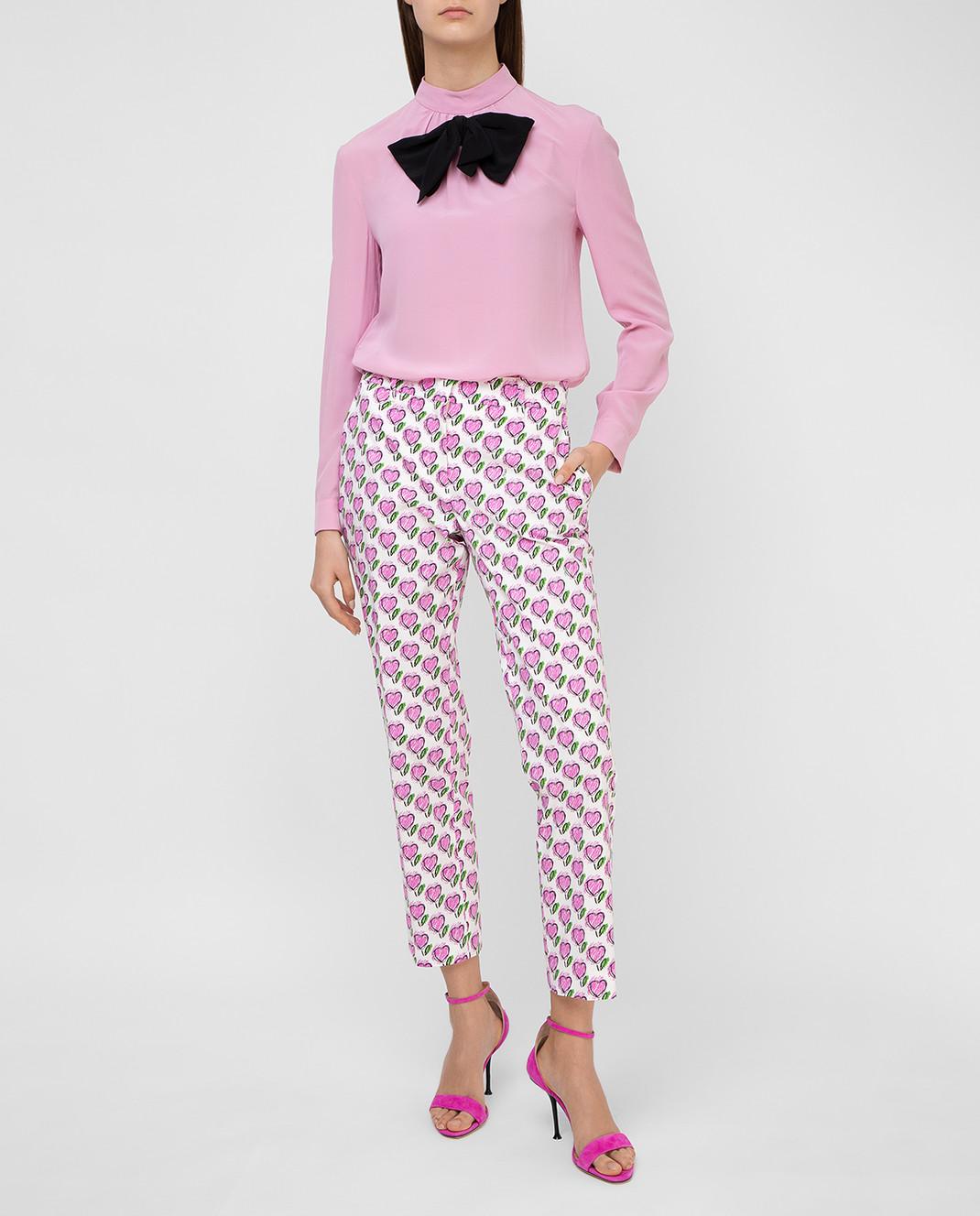 Prada Розовая блуза из шелка P970C изображение 2