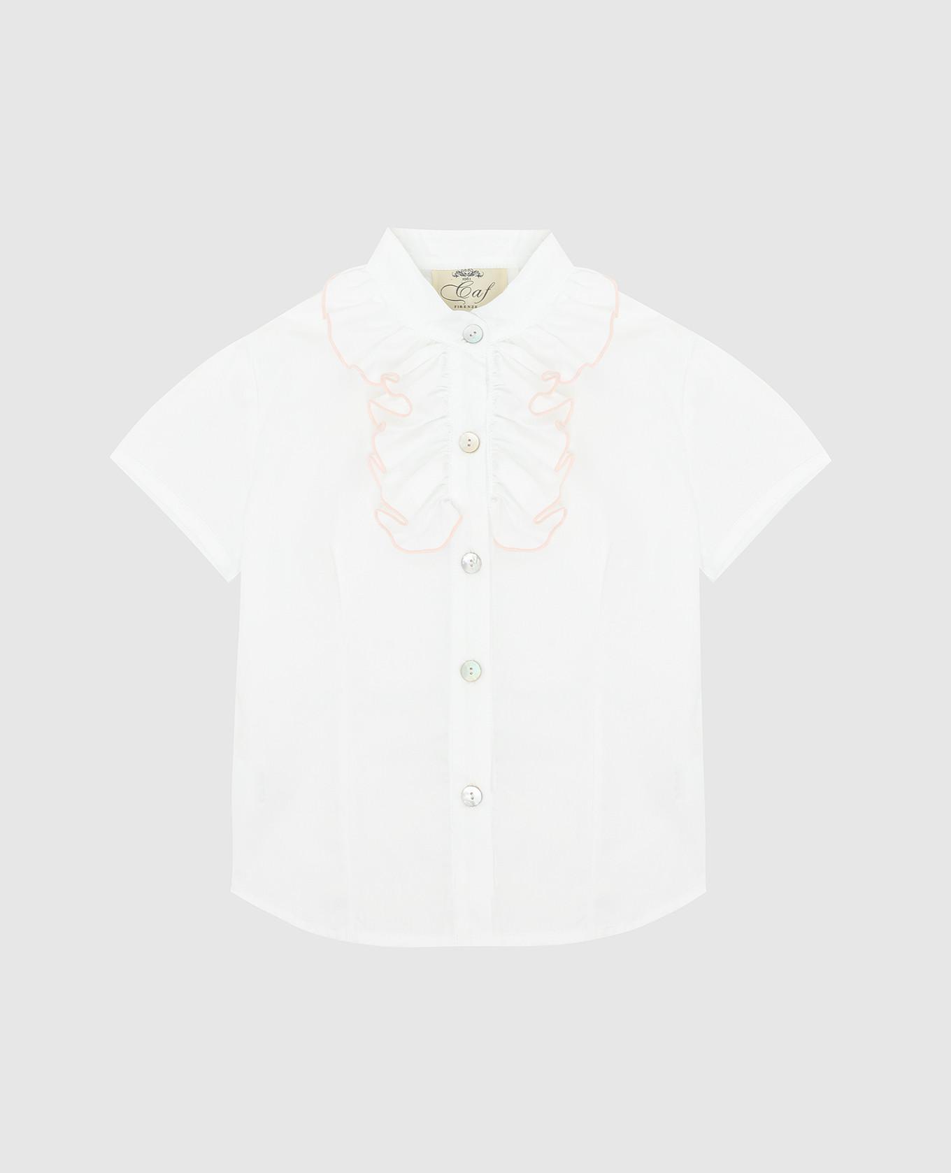 Детская рубашка с жабо