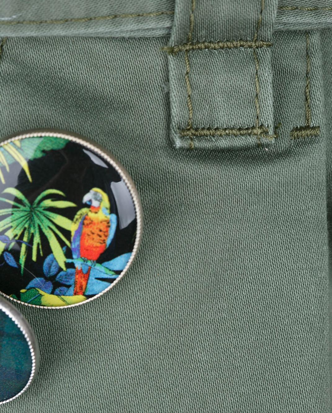 Marc Jacobs Зеленые шорты со съемным ремнем M4006493 изображение 5