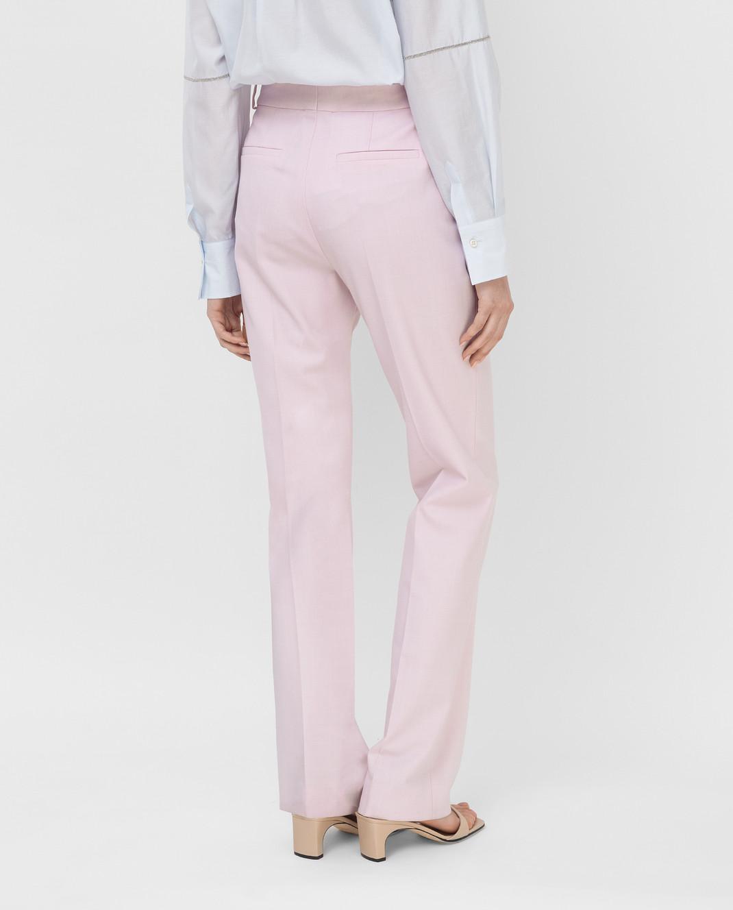 Victoria by Victoria Beckham Розовые брюки TRVV097 изображение 4