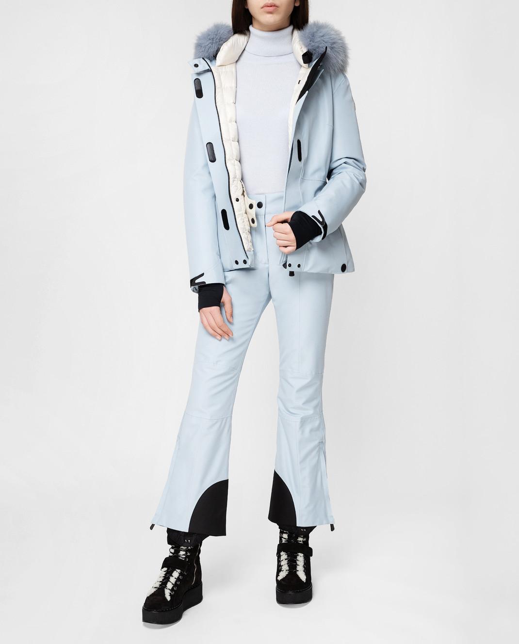 Moncler Grenoble Голубые лыжные брюки 16417 изображение 2