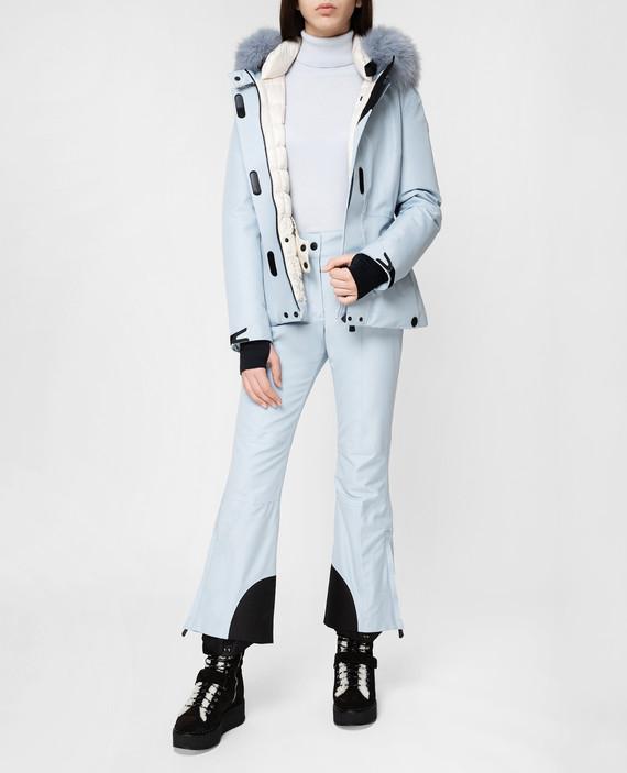 Голубые лыжные брюки hover
