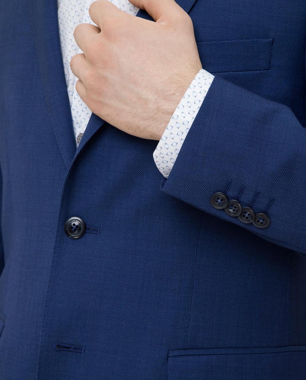 Florentino Синий костюм из шерсти изображение 5