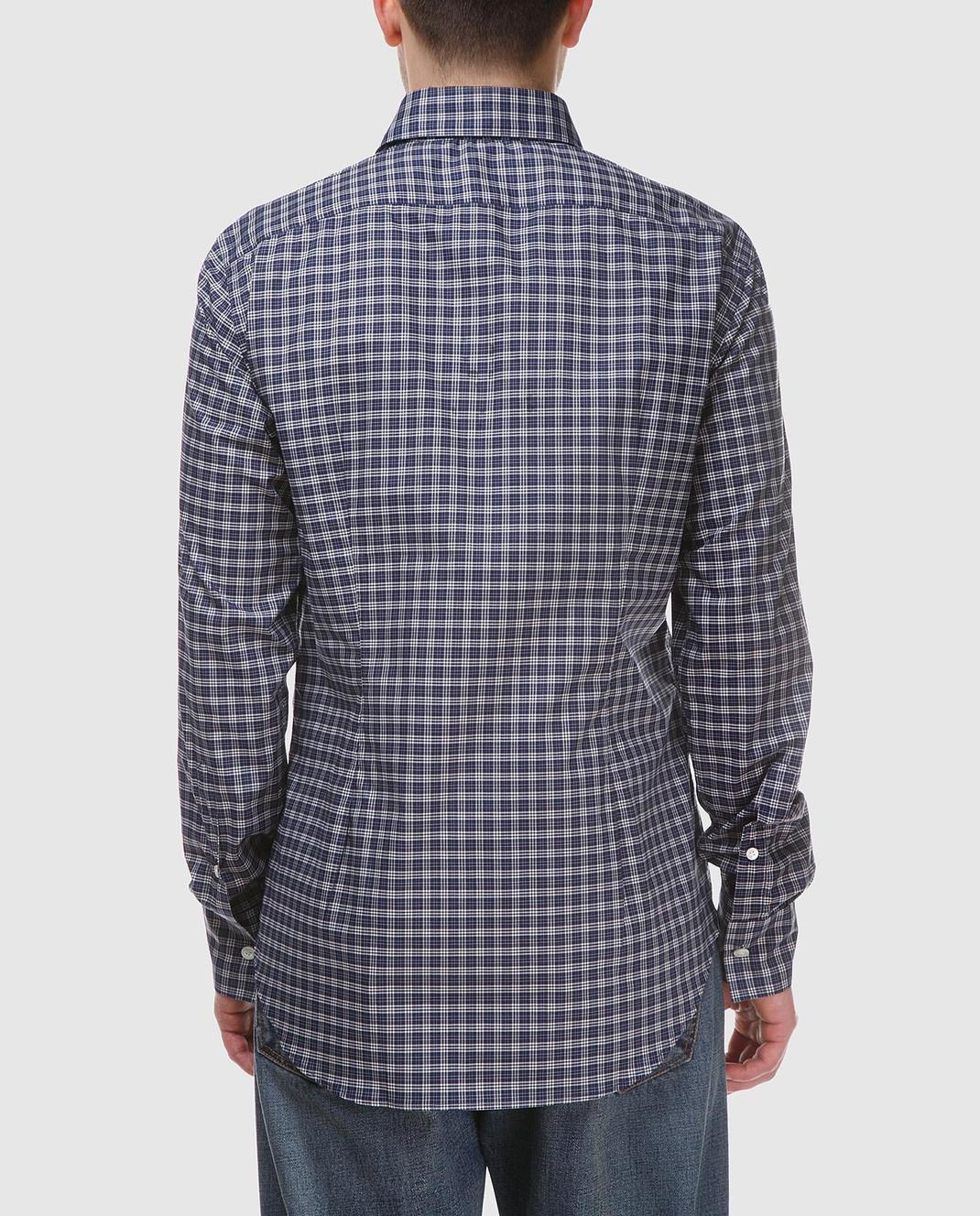 Eleventy Темно-синяя рубашка 979CA0001CAM24015 изображение 4