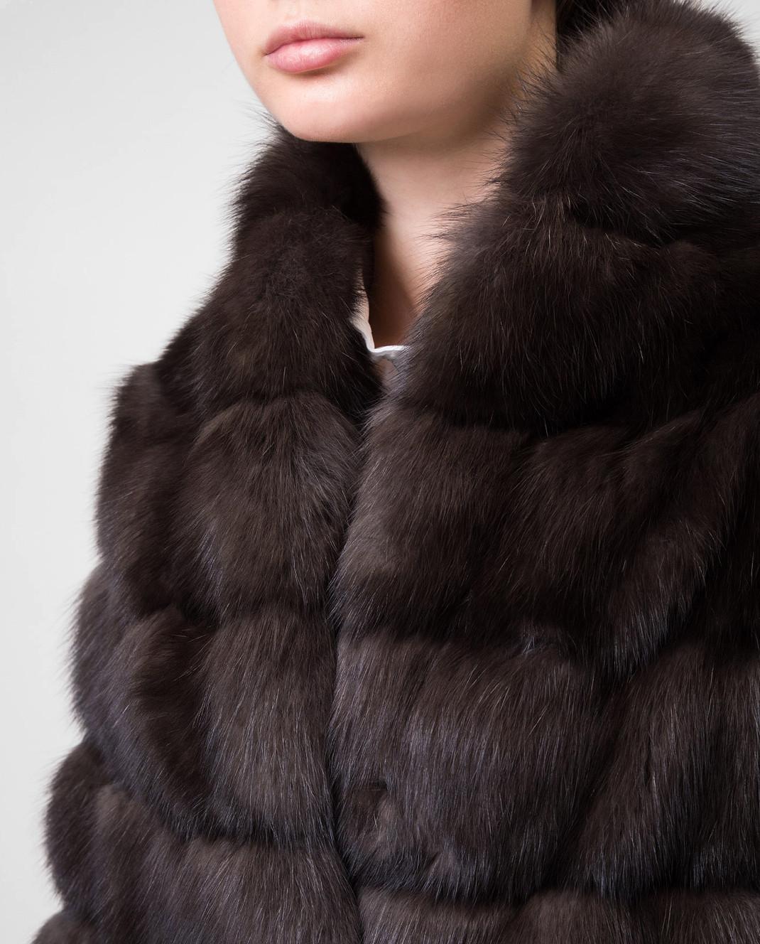 Real Furs House Черное меховое пальто SBR29548DARK изображение 5