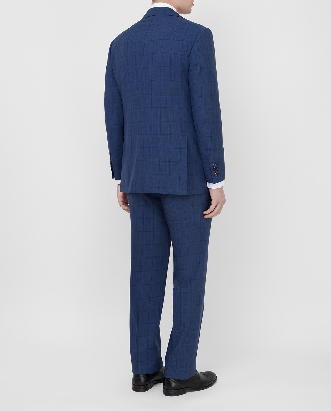 Kiton Темно-синий костюм из шерсти изображение 4