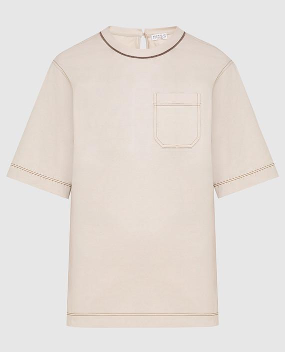 Бежевая футболка