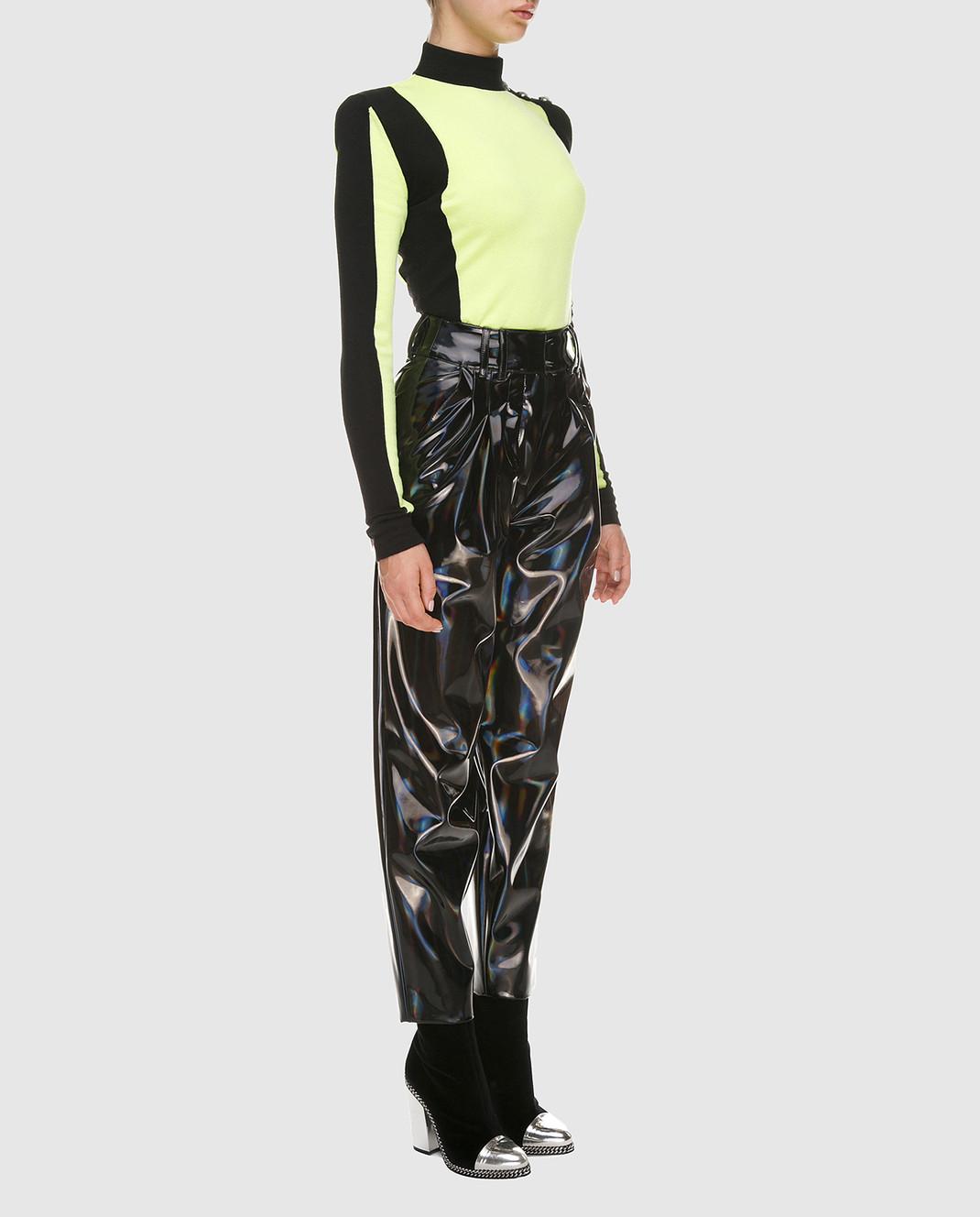 Balmain Черные лаковые брюки PF05334 изображение 2
