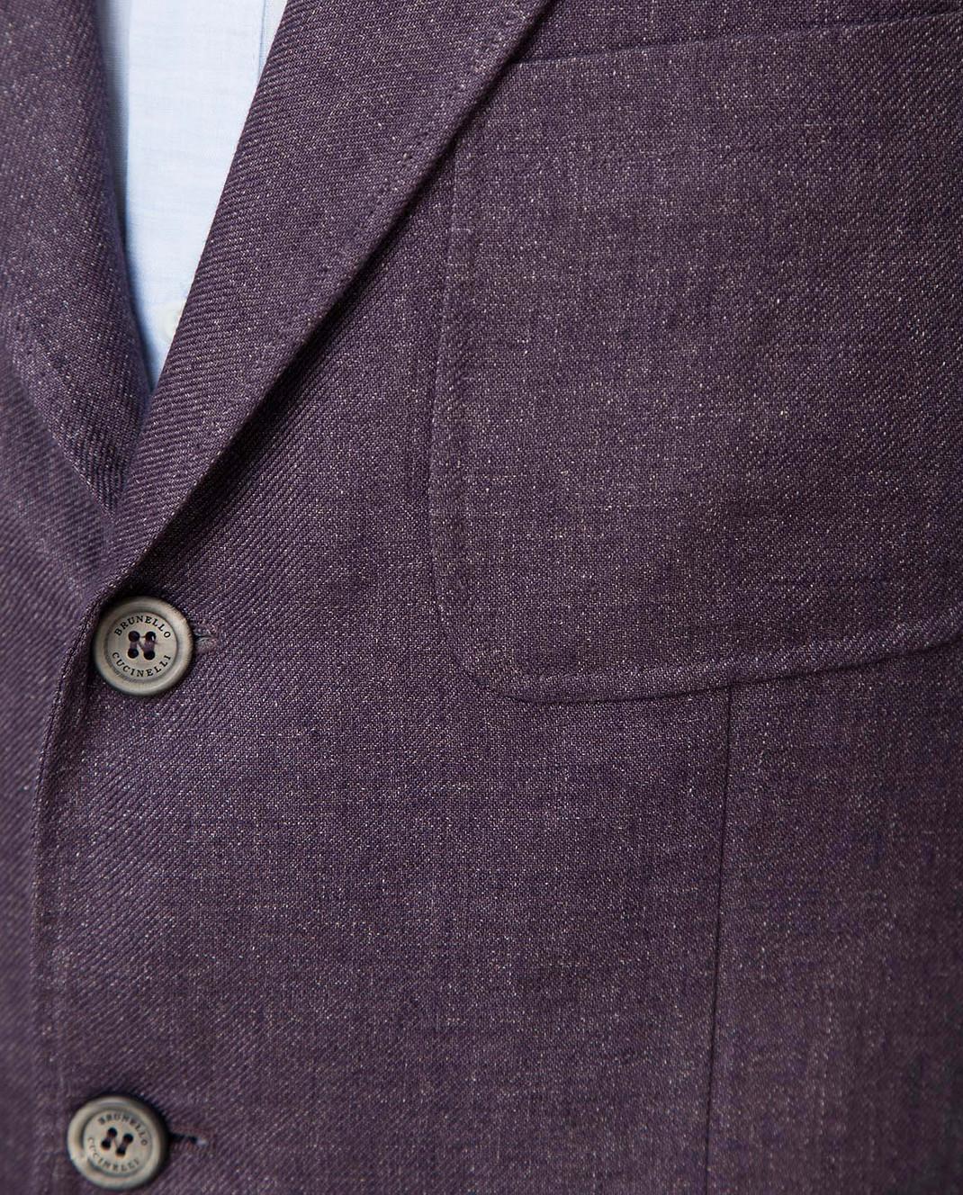 Brunello Cucinelli Сиреневый пиджак изображение 5
