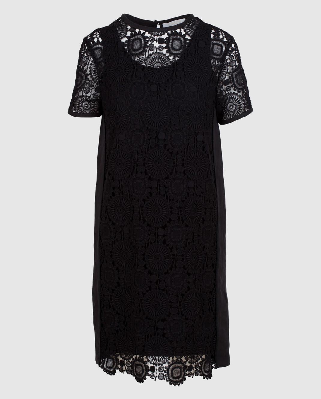 Chloe Черное платье из кружева 17SRO60
