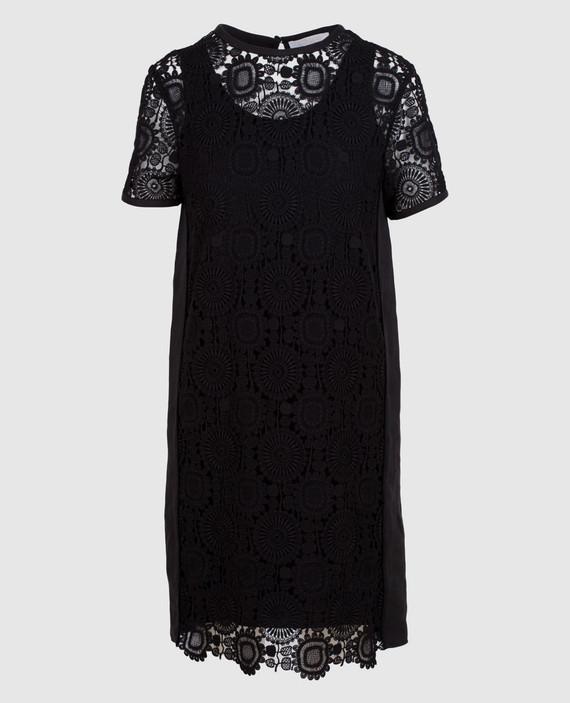 Черное платье из кружева