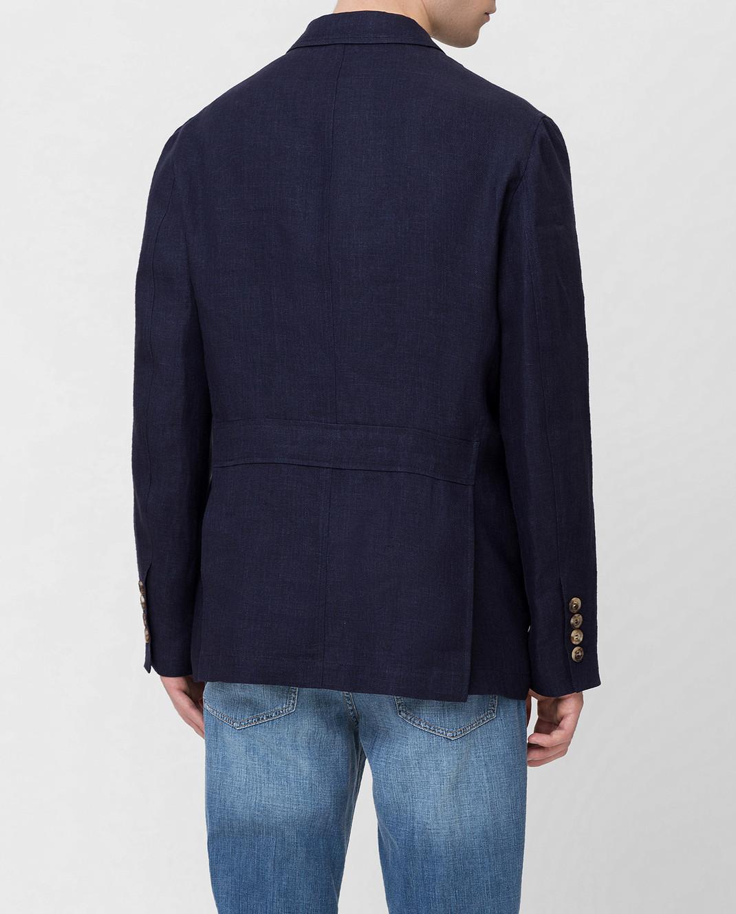 Brunello Cucinelli Синяя куртка MD4176848 изображение 4