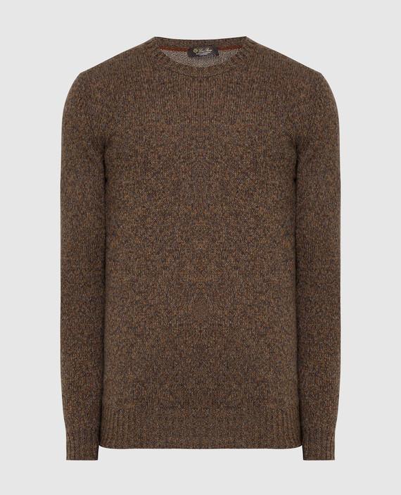 Коричневый свитер из кашемира