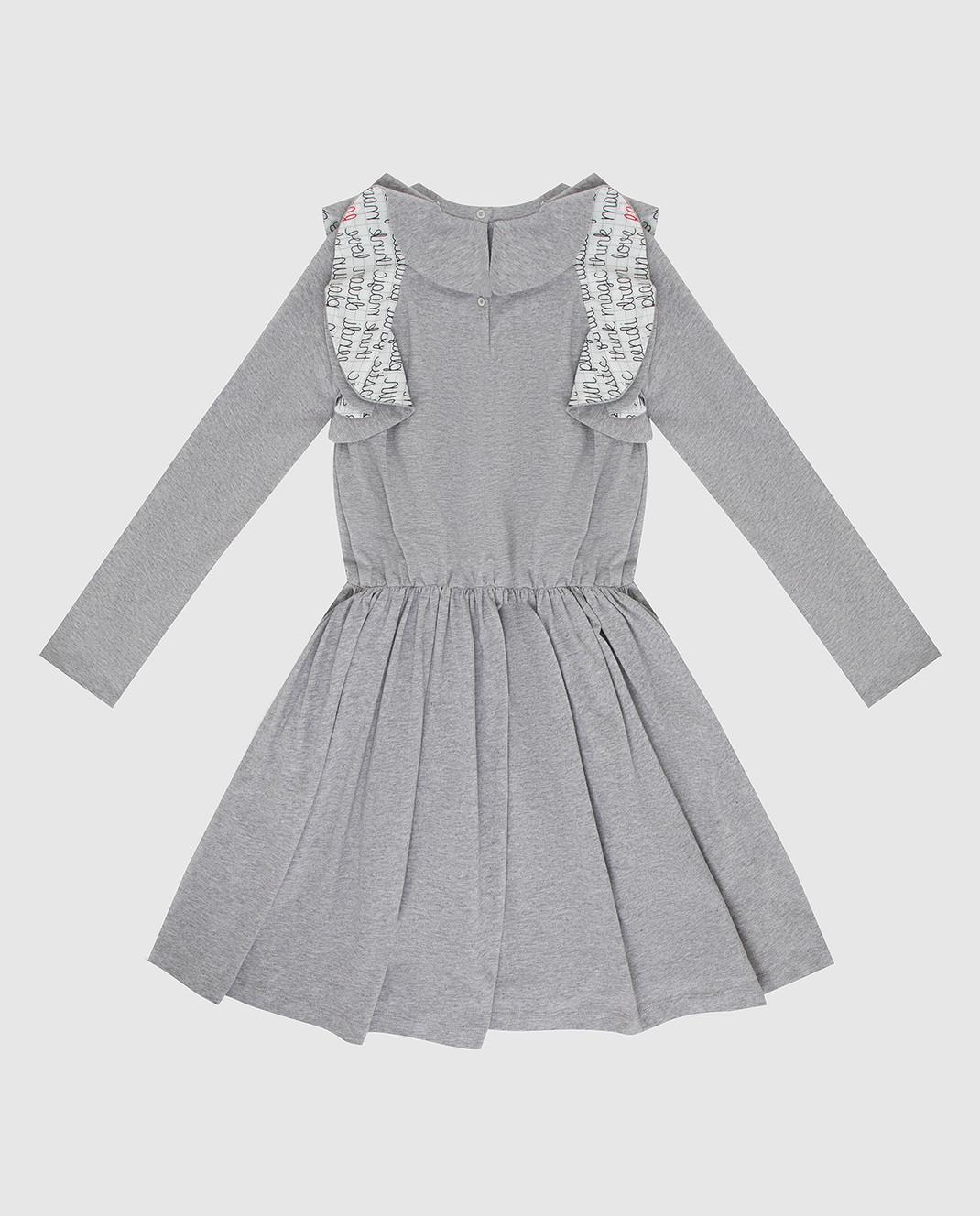 Fendi Детское серое платье JFB19667 изображение 2
