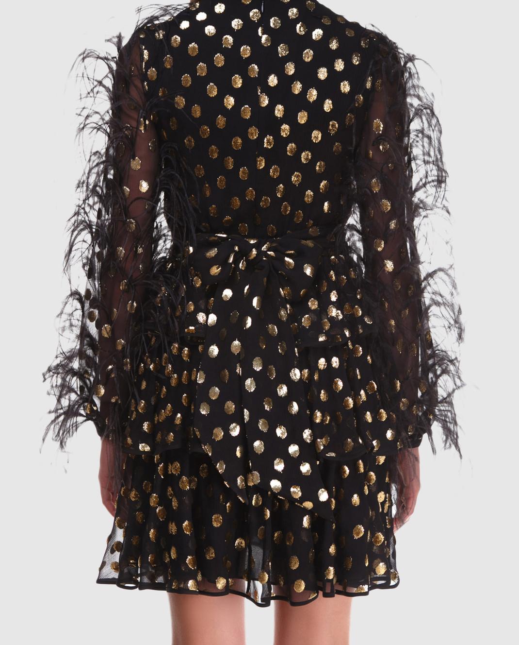 Valentino Черное шифоновое платье QB2VAIK043C изображение 4