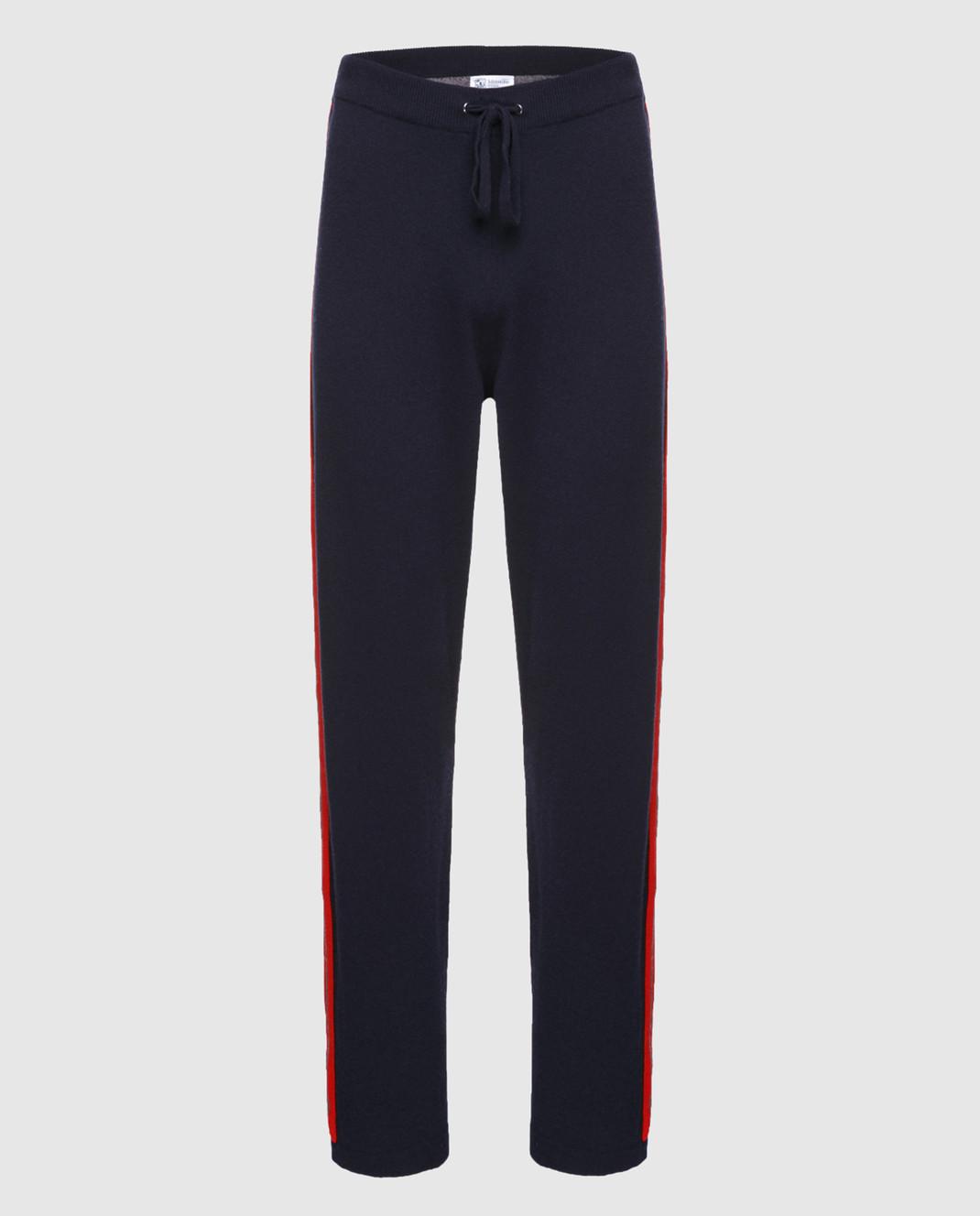 Johnstons Темно-синие брюки из кашемира KAL03898